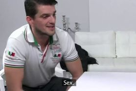 Busty female agent fucked on casting in office