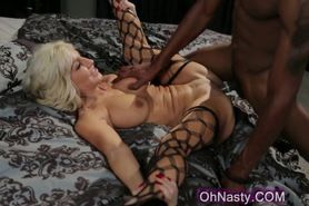 Slutty blonde mature pounded