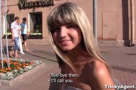 Tricky Agent Blond girl is hot