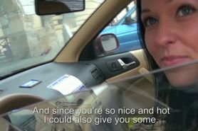 Perverted cameraman harasses a female taxi driver