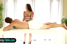 Sex therapist babe eating cock
