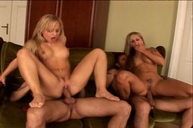Liliane Tiger and Skarka Blue 4some ffmm creampie