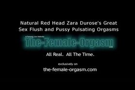 Hot Natural Redhead Pulsating Orgasm