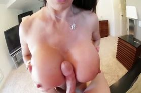 Hungry POV bitch sucks dick