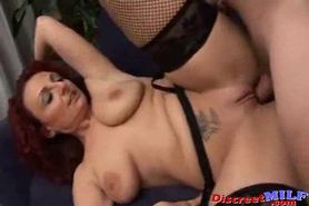 Redhead Shaved MILF in Action