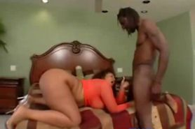Black BBW get pounded by black guy