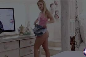 Horny hot blonde teen Candice Dare gets banged hard