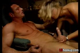 Super hot MILF Anna Nova and two gu