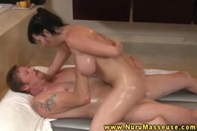 Busty asian massage beautie sensual fuck