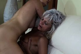 Naughty horny Granny and girlfriend