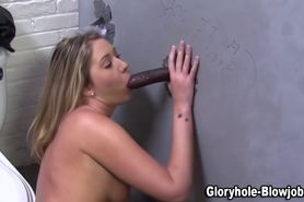 Gloryhole black dick fucking hoe