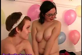 Amateur teen party les