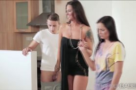 Sweet Kari and Simonys mad sex film with their lovers