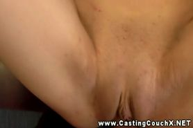 Nymhomaniac eats cum at Casting Couch