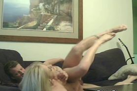 Cheating Blonde Getting Banged On Sofa And Caught On Ca