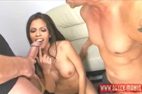 Shy Love suck dick with another man