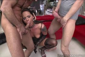 Poor Simony gets gang banged by three in an afternoon o