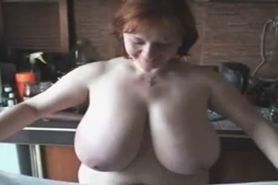 France # A Redhead Milf with Huge Boobs