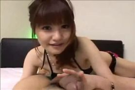 Asian Woman Gives A Webcam Blowjob