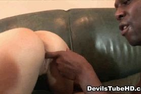 Tiny babe sucks cock and gets licked by an ebony stud