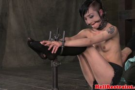 Bit bondage fetish sub tied up by male dom