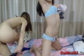 Asian 18 teen Candy with girlfriend