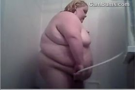 Very Large Girl Showering