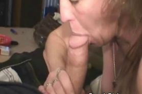 Nasty Looking Blonde Crack Whore Sucking On Dick POV