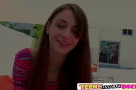 Cute Blonde babe Willow gets fucked hard big time by he