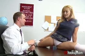 Blond Lea Lexis fucked in classroom