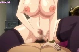 Redhead anime whore getting anally