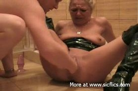 Piss: Fisting and pissing on my slut wife