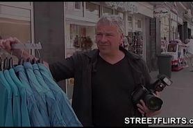 porn casting on streets of Germany
