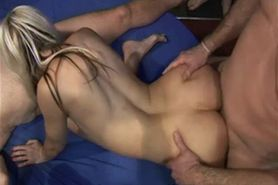 Amateur gangbang party for English honeys