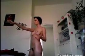 Naked Girl With A Hairy Pussy