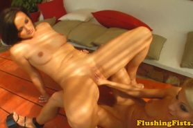 Blonde lesbian fisted deeply