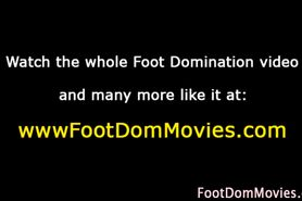 Domina gives sexy footjob