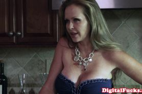 Beautiful blonde in bikini seduces moms boyfriend