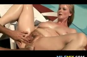 Busty Blonde Fucking Outdoors