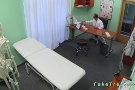 Amateur patient fucks doctor in an office