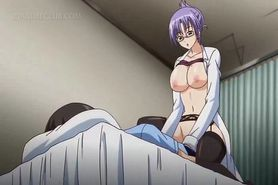 Anime sweetheart opening legs for a hot pussy lick