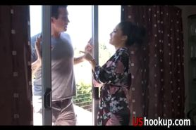 Asa Akira oil massage with a happy