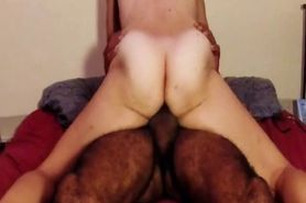 Hairy amateur wife rides cock and has orgasm