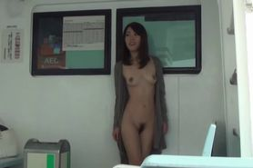 Naughty nude asian babe
