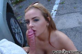 Amateur ho gets fucked after sucking