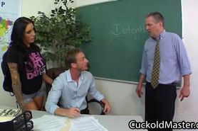 College girl humiliate her sissy principal with the tea