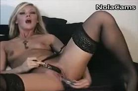 Cam: Erotic Blonde Wife Masturbates