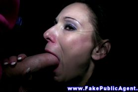 Public outdoor euro amateur sucking on cock