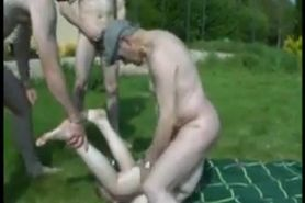 Dirty Girl Fucked Outside