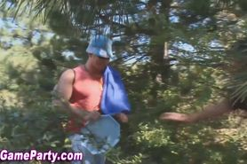 Outdoor sex game party